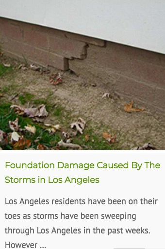 water damaged foundations