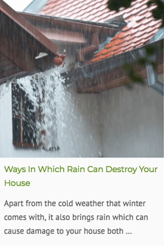 Ways that rain can destroy your house blog post