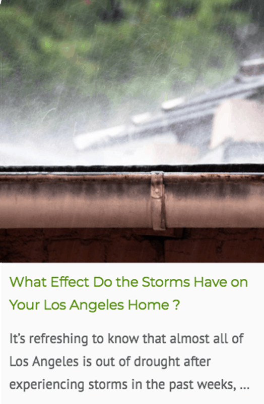 Effect of storms on your LA home blog post