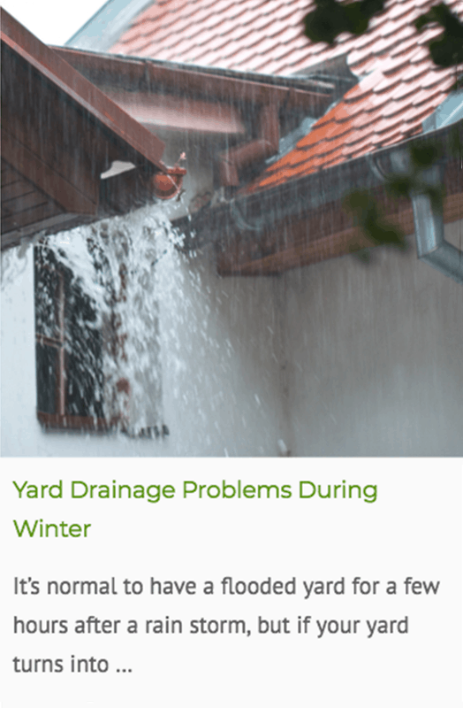 Yard drainage problems in winter blog post