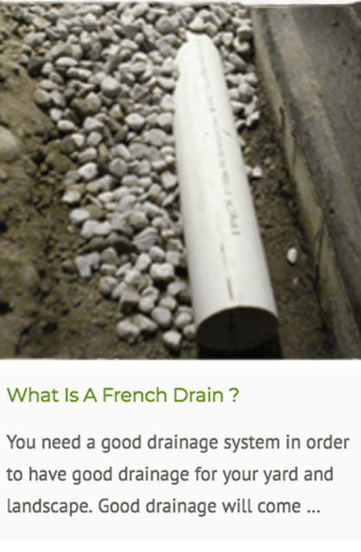 What is french drain blog
